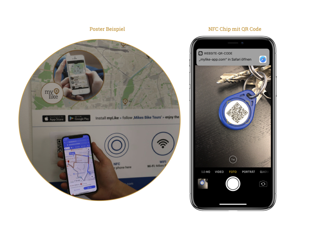 QR Code auf einem Poster oder NFC chip