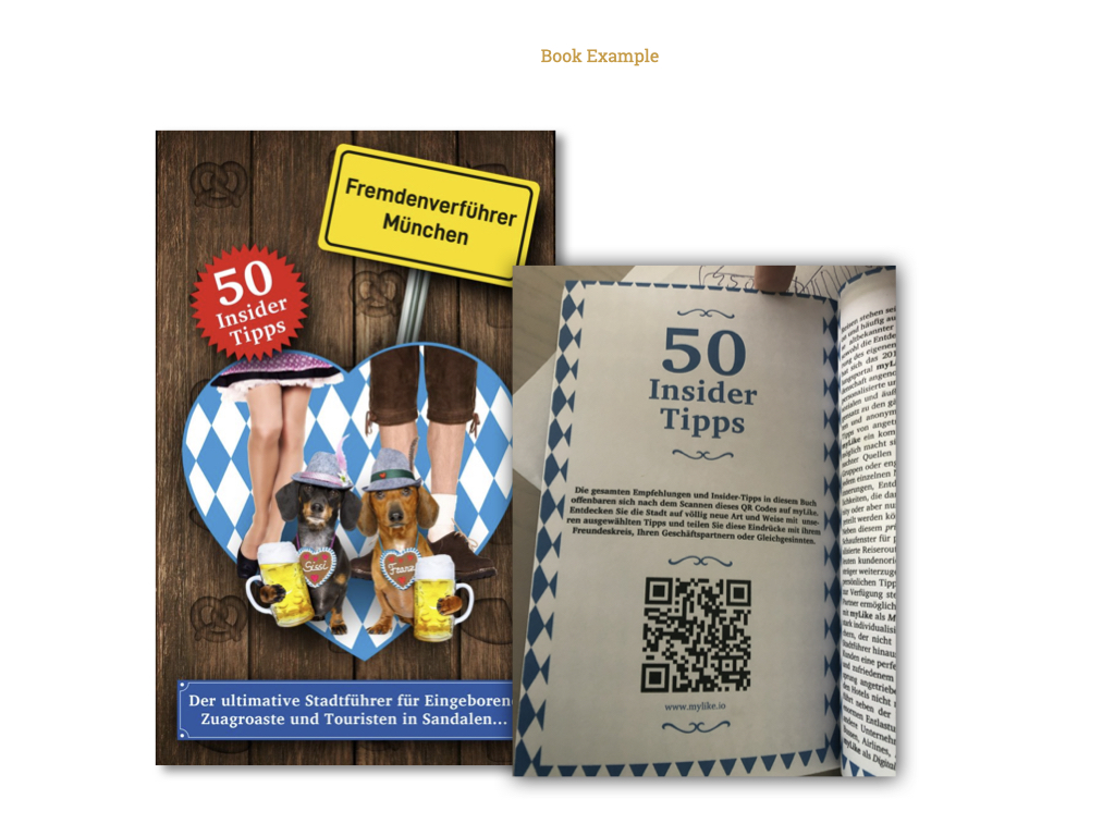 QR inside a book or magazine