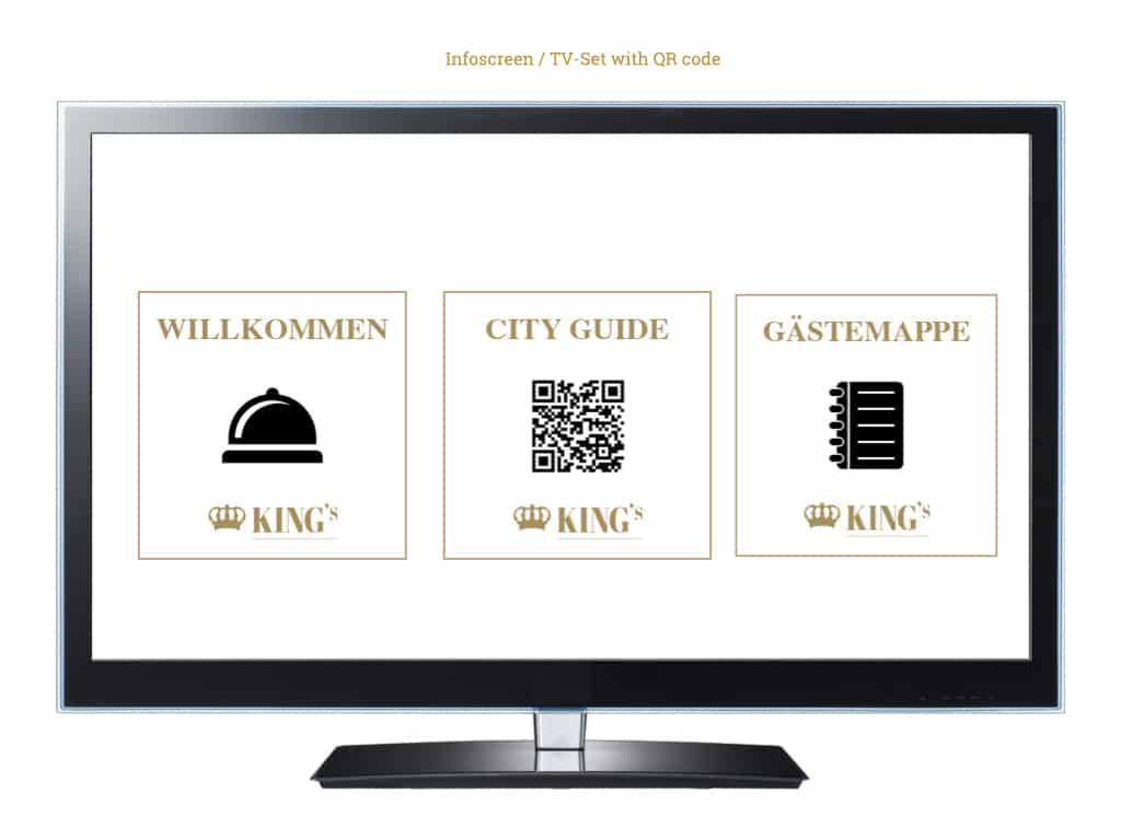 QR on an info screen